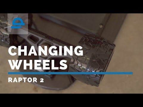 How to Replace Raptor 2 Wheels DIY   Crossover Wheels!   Electric Skateboard
