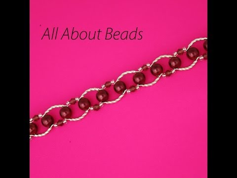 How to Make a Beaded Bracelet with Curved Connectors