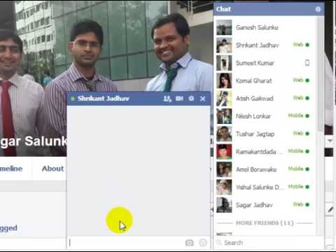 How to open group chat in facebook