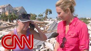 Phone call brings hurricane victim to tears