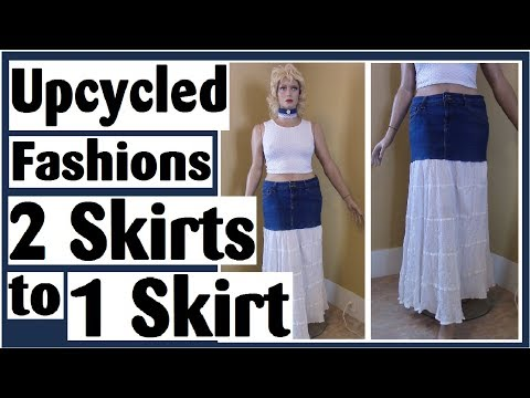 Transforming 2 Skirts Into 1 Skirt - Upcycled Fashions Ep. 14