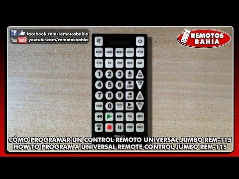 CÓMO PROGRAMAR CONFIGURAR UN CONTROL REMOTO UNIVERSAL JUMBO QUANTUM FX REM-115 ESPAÑOL-ENGLISH