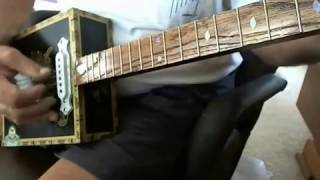 tabak 3 string cigar box guitar with single coil magnetic pickup