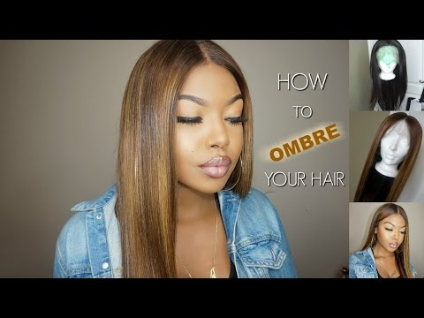HOW TO EASY OMBRE YOUR WIG - WOWAFRICAN