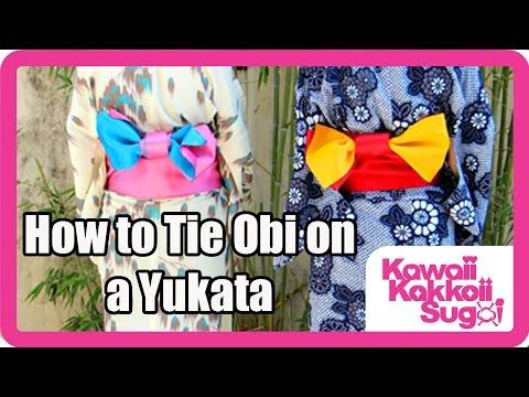 How to Tie Obi (Bow) on a Yukata