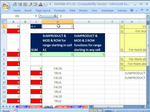 Excel Magic Trick 467: Conditional Formatting every Nth value (Conditional Format)