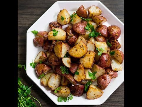 Roasted Red Potatoes with Garlic, Rosemary & Parmesan - Awesomeness on a Sheet Pan
