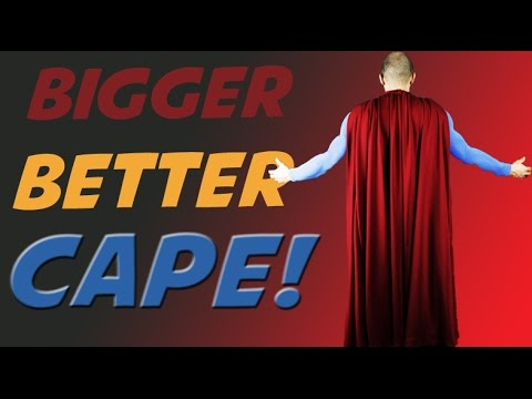 A bigger, BETTER cape for the Superman Returns costume