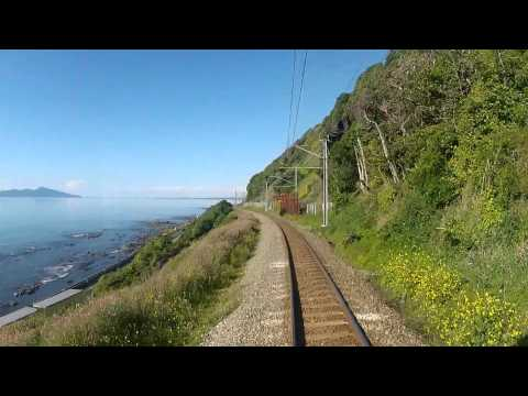 Wellington to Waikanae (New Zealand) drivers eye view - Edited highlights.