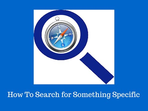 How to Search for Something Specific Using a Web Browser
