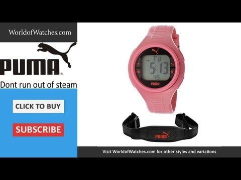 PUMA  Don't Run Out Of Steam Multi-Function Gray Digital Dial Pink Silicone PU910541008