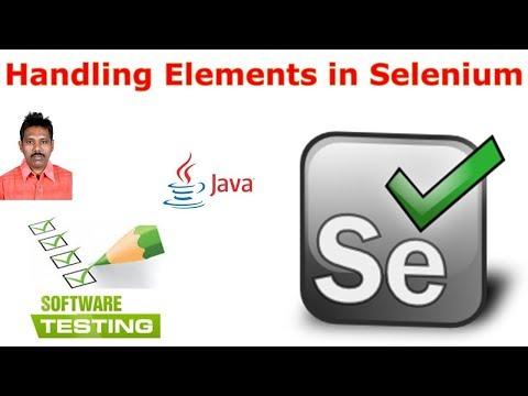 Selenium Tutorial For Beginners 25|Element Handling in Selenium|G C Reddy|