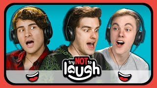 YouTubers React to Try to Watch This Without Laughing or Grinning #24