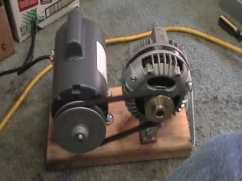 Maxflow 3 phase alternator mounted with 1/2 hp electric motor