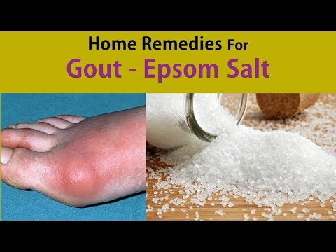 Home Remedies For Gout - Stop Gout With Epsom Salt