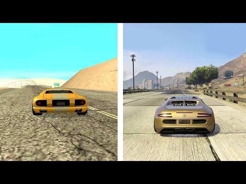 GTA 5 VS GTA SAN ANDREAS Comparação