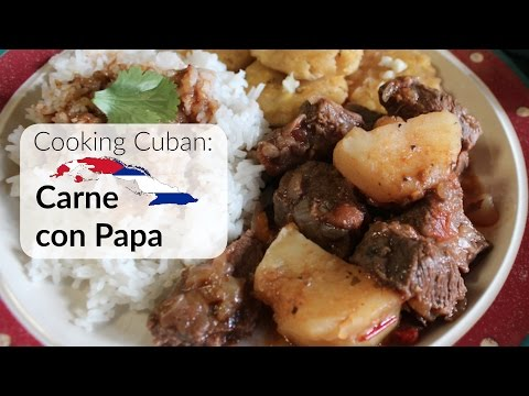 Cooking Cuban - Carne Con Papa (Beef and Potatoes)