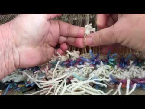 How to Tie a Rya Rug Knot