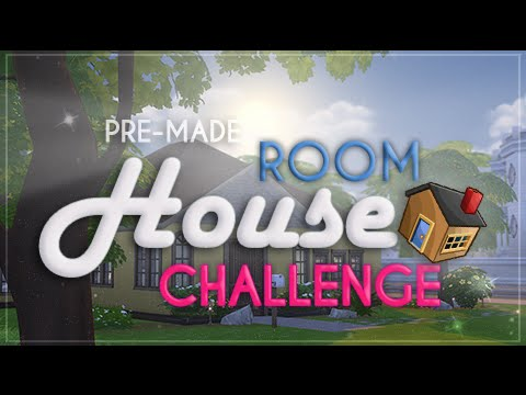 The Sims 4| Pre-Made Room House Building Challenge.