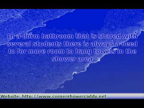 Corner Shower Caddy Solutions for a Dorm or Small Bathroom
