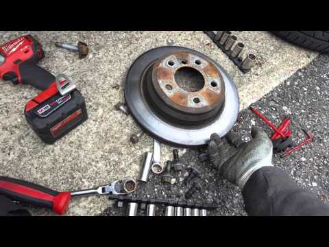 E90 rear wheel bearing replacement/ knuckle removal