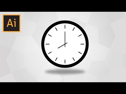 How To Draw A Simple Clock In Adobe Illustrator (With Voice Explaining)