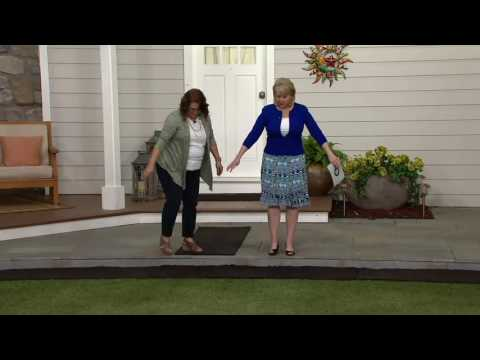 Plow & Hearth 6 ft Faux Rubber Mulch Permanent Pathway on QVC