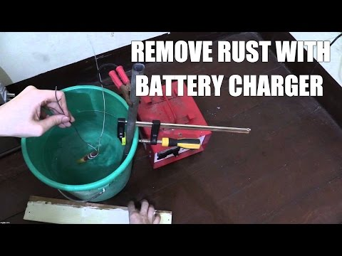 Remove Rust with battery charger - Part 1