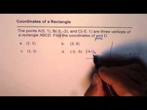 Find Fourth Vertex of Rectangle Coordinate Geometry