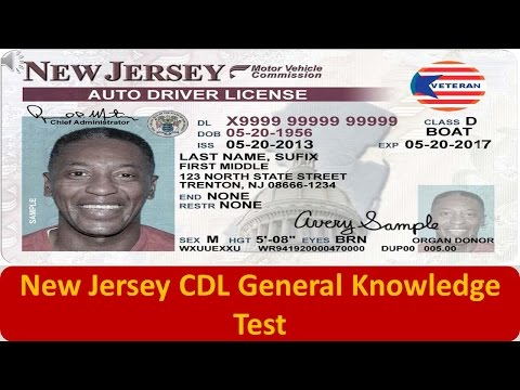 New Jersey CDL General Knowledge Test