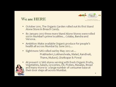 The Organic Garden - Certified Organic Retailer into Organic Vegetables, Fruits, Groceries etc