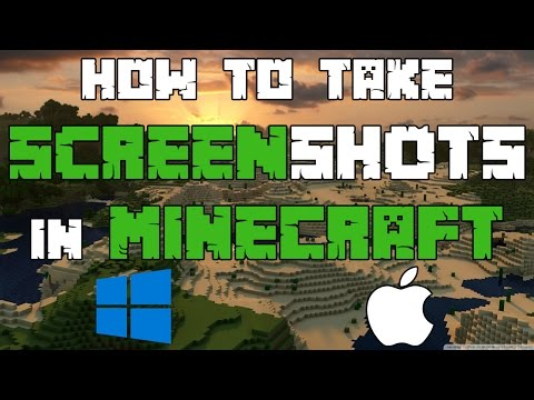 Minecraft - How To Take/Find Screenshots 2016/17 - (Windows/Mac)