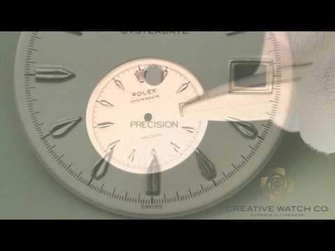Watch dial restoration before & after