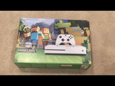 Xbox One S Minecraft Favorites Bundle Unboxing