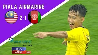 Piala Airmarine : Malaysia lwn Afghanistan   2-1   Astro Arena