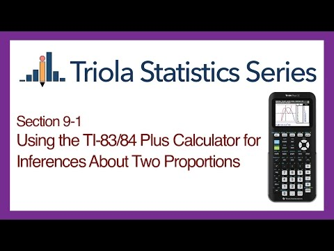 TI 83/84 Section 9-1: Using the TI-83/84 for Inferences About Two Proportions
