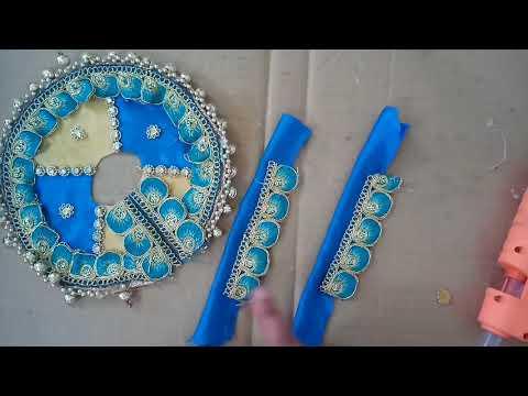 Laddu Gopal Blue Poshak With Padri Tutorial | CraftLas