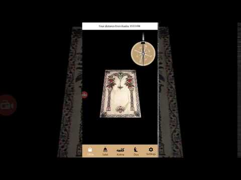 Visual Qibla Direction in Augmented Reality AR with Dua, Kalma and Prayer Timing
