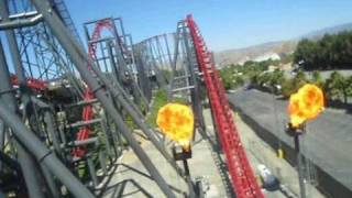 Download X2 Front Seat on-ride POV Six Flags Magic Mountain Video
