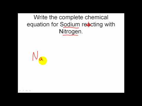 Solving Chemical Reaction Word Equations - finishing the reaction