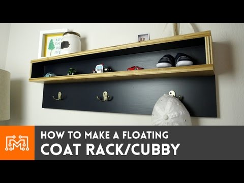 Floating Coat Rack (with cubby) // How-To