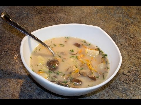 How to make Russian Cream of Mushroom Soup - Video Recipe