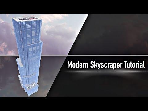 Modern Private Military Skyscraper Tutorial (Minecraft Skyscraper)