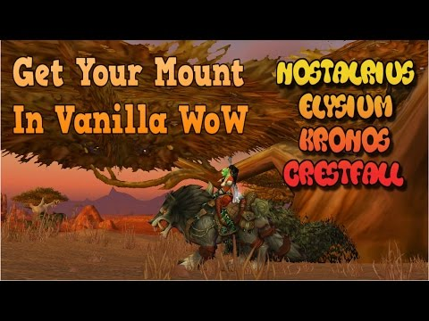 How to Get First Mount in Classic WoW