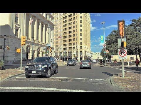 Driving Downtown - San Antonio 4K - Texas USA