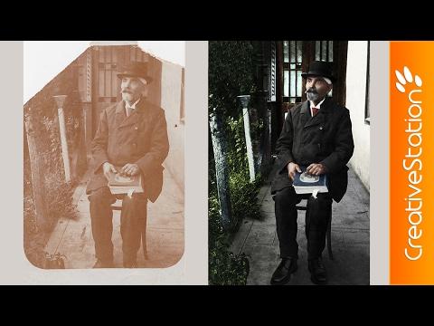 Uncle Charles - Old photo restoration - Speed art (#Photoshop) | CreativeStation