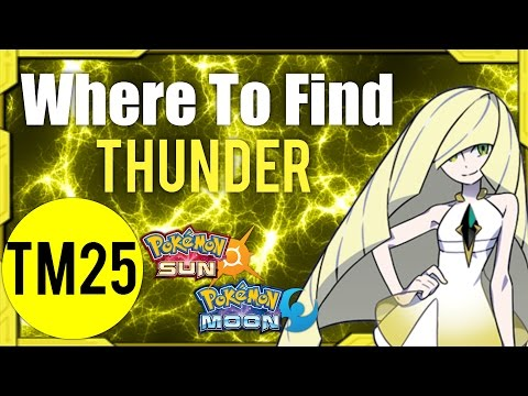 Where To Find Thunder (TM25) – Pokemon Sun and Moon Guide