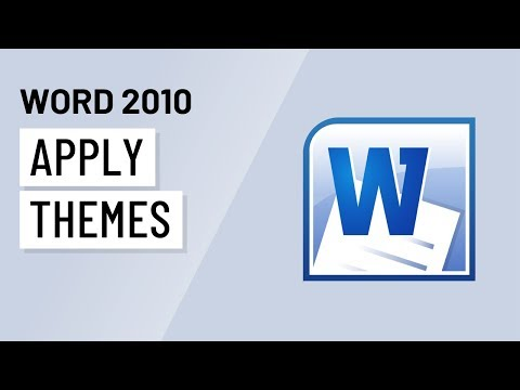 Word 2010: Applying Themes