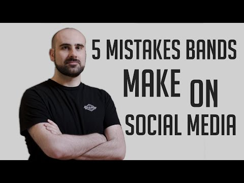 5 MISTAKES your band is making on SOCIAL MEDIA | 2017 Music Tips & Advice