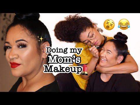 Doing My Mom's Makeup | jasmeannnn